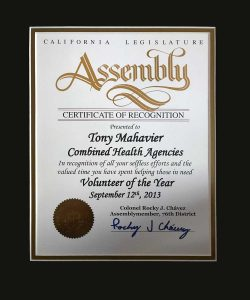 California Assembly recognition